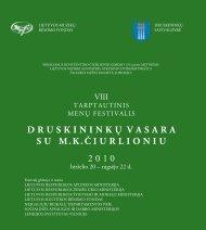 Druskininkų vasara su M.K.Čiurlioniu. Bukletas. 2010 - Lmrf.lt