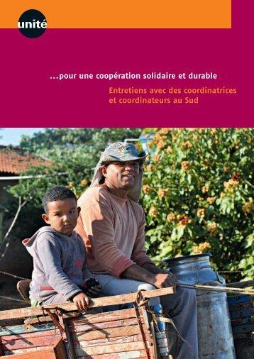 ...pour une coopération solidaire et durable Entretiens avec ... - Unité