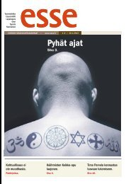 Esse 01-02/2013 (pdf) - Espoon seurakuntasanomat