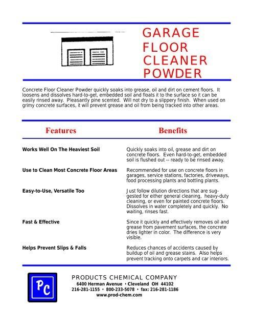 Garage Floor Cleaner Powder Products