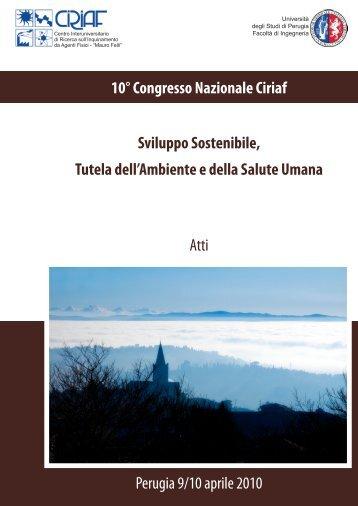10° Congresso Nazionale CIRIAF Atti - Centro di Ricerca sulle ...