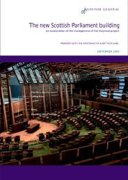 The new Scottish Parliament building (PDF | 635 KB) - Audit Scotland