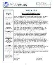 March 2013 - Louis Riel School Division