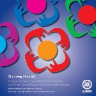 Gaining health : analysis of policy development in European ...