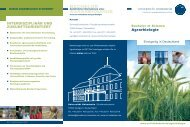 BACHELOR AGRARBIOLOGIE - Universität Hohenheim