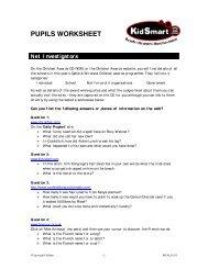 PUPILS WORKSHEET - Kidsmart