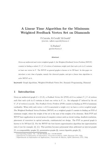 A Linear Time Algorithm for the Minimum Weighted Feedback Vertex ...