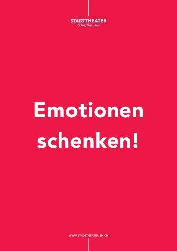 Emotionen schenken! - Stadttheater Schaffhausen