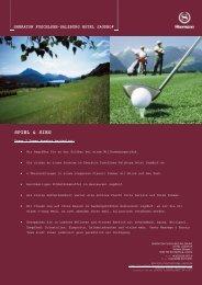 SPIEL & SIEG - Golfresort Salzburg