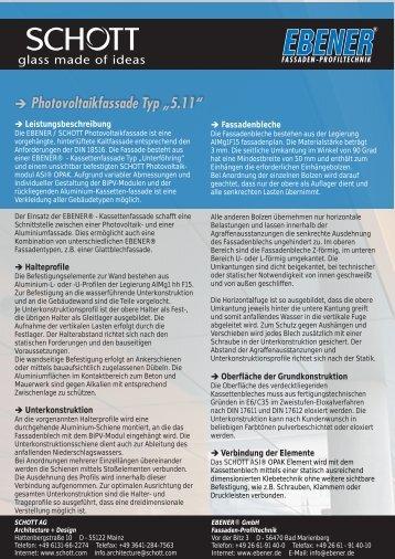Beschreibung Photovoltaikfassadensystem - EBENER GmbH