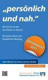 Jahresbericht 2011 - VR Bank Biedenkopf-Gladenbach eG