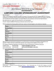 LANYARD $10,000 SPONSORSHIP AGREEMENT