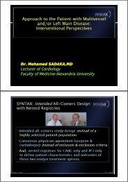 Dr. Mohamed SADAKA,MD Lecturer Lecturer of Cardiology of ...