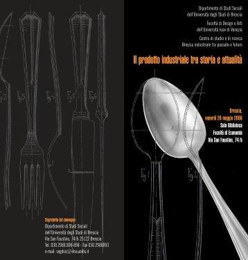 Convegno Il prodotto industriale tra storia e attualità.pdf - Sise