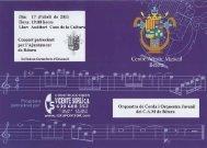 Ceníre Artístic Musical' - Centre Artístic Musical de Bétera
