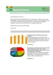 AOK/BGF-Gesundheitspreisträger 2013 - Institut für Betriebliche ...