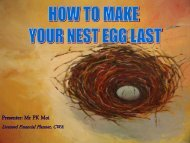HOW TO MAKE YOUR NEST EGG LAST