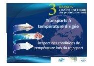 Transports à température dirigée - Evenium