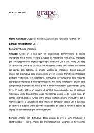 Gruppo di Ricerche Avanzate Per l'Enologia (GRAPE) srl - Netval