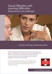 Sexual Offenders with Learning Difficulties (A training ... - BASPCAN