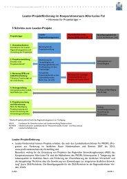 Hinweise zur Leader-Projektförderung - bei Leader im Aller-Leine-Tal