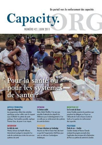 Renforcement des systèmes de santé - Capacity.org