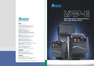 Delta VFD-E brochure
