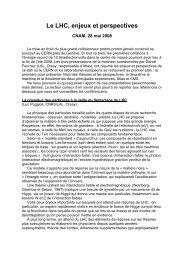 Le LHC, enjeux et perspectives – ST1/2008 - Sfen