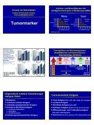 Tumormarker - Institut für Klinische Chemie - UniversitätsSpital Zürich