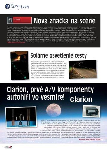 Clarion, prvé A/V komponenty autohifi vo vesmíre! - AutoTuning.sk
