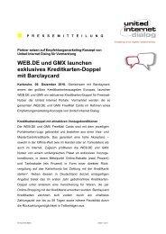 WEB.DE und GMX launchen exklusives Kreditkarten-Doppel mit ...