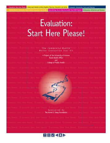 Evaluation: Start Here Please! - University of Arizona