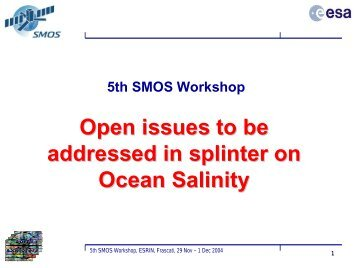 SMOS Salinity Science - CESBIO