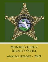 Monroe County Sheriff's Office Annual Report - 2009