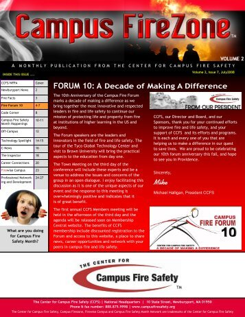 FORUM 10 - Center for Campus Fire Safety