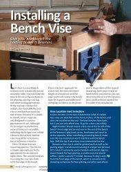 Installing a Bench Vise - Woodcraft Magazine