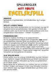 SPILLEREGLER - Egmont Serieforlaget