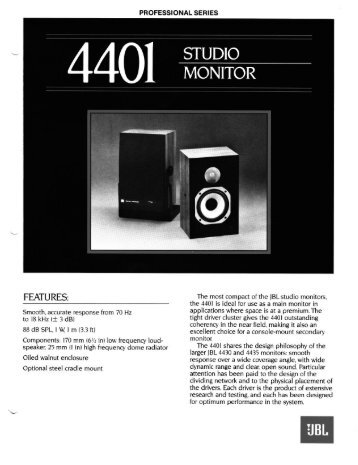 4401 - JBL Professional