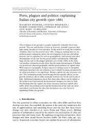 Ports, plagues and politics - Cambridge Journals