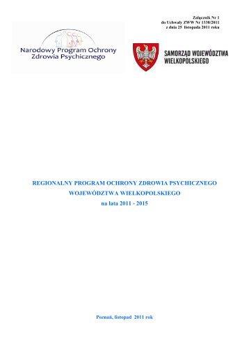 Kopia Regionalny Program Ochrony Zdrowia Psychicznego - Urząd ...