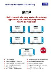 Multi channel telemetry system for rotating application, full software ...
