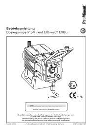 Dosierpumpe ProMinent EXtronic® EXBb