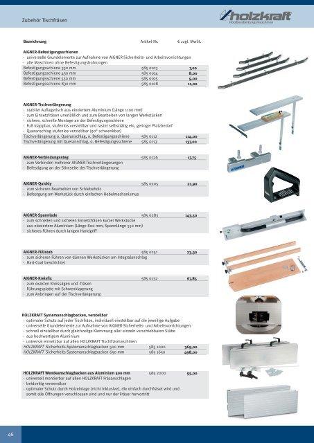 HOLZKRAFT® Standard-Holzbearbeitungsmaschinen für Handwerk ...
