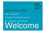 Employment is an option (Nick Bailey)