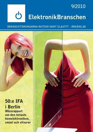 9/2010 50:e IFA i Berlin - Elektronikbranschen