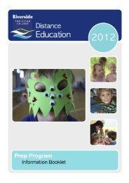 Prep Information Booklet - Riverside Christian College