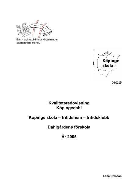 fritidshem – fritidsklubb Dahlgårdens förskola År 2005 - Buf