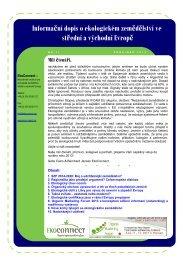 Informační dopis o ekologickém zemědělství ve ... - EkoConnect