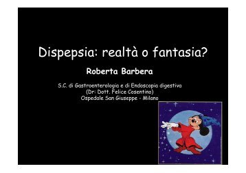 Dispepsia (R. Barbera 2006) - EndoscopiaDigestiva.it