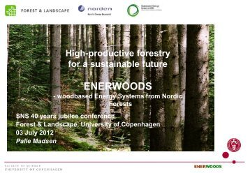 High productive forestry for a sustainable future, ENERWOODS - SNS